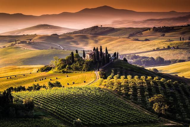 Vinícola na região da Toscana