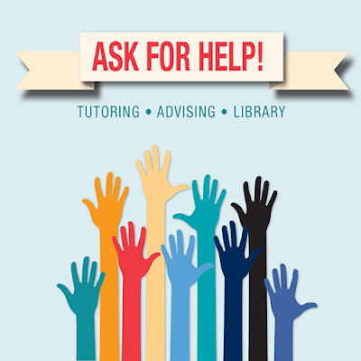 image of ask for help poster.  Hands raised in the air.