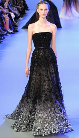 Then & Now ~ Star Spangled Strapless Black Dress
