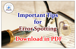 Important Tips for Error Spotting-Download in PDF