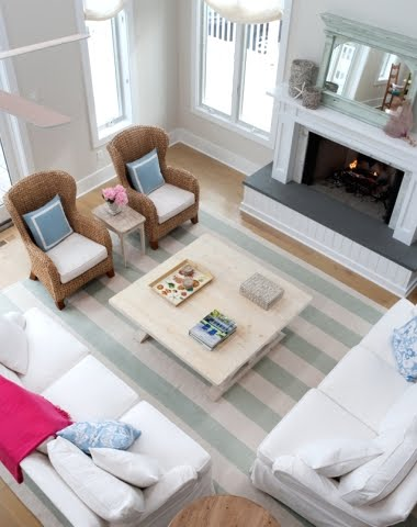 beach house living room makeover