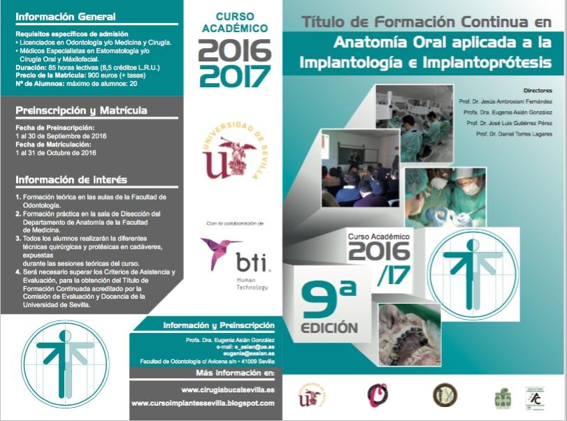 Curso Implantes en cadaveres Universidad de Sevilla