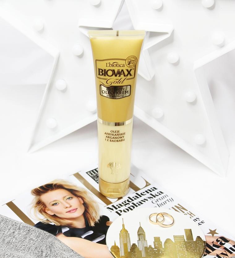 Biovax Gold Odżywczy Oleo-Krem do włosów: olej arganowy, olej z baobabu, 24-karatowe złoto