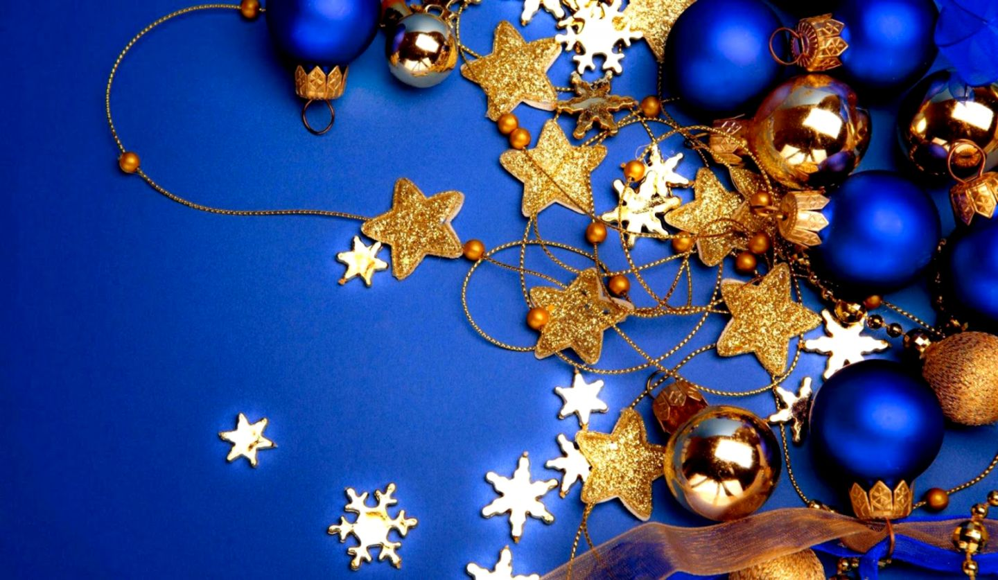 Holidays Wallpaper Blue Christmas Decoration Hd Desktop Wallpaper