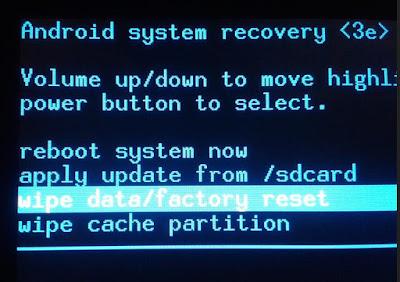 cara melakukan factory reset android