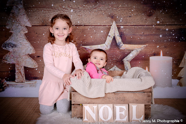 photographe studio séance photos portrait enfant déco noël