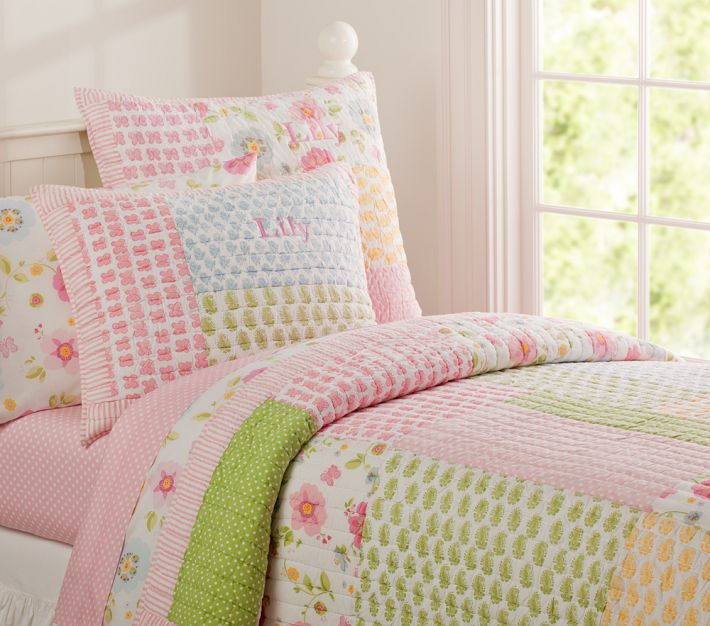 Pottery Barn Kids Lily Quilted Bedding | Decor Look Alikes
