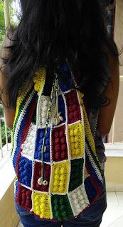 Free crochet pattern, free crochet bag pattern, free crochet backpack pattern, free crochet Lego bricks motif pattern, free crochet motif pattern, free crochet Lego bricks backpack pattern, back pack pattern,