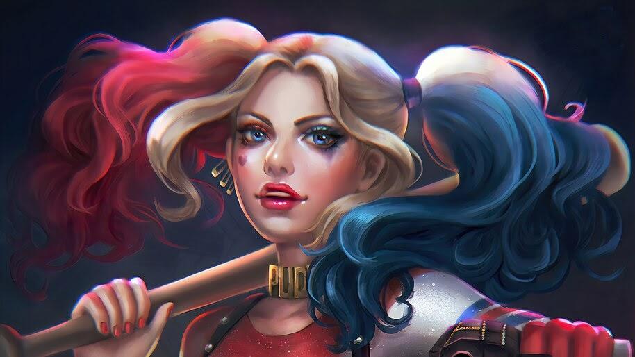 Harley Quinn, Art, DC, 4K, #4.2297