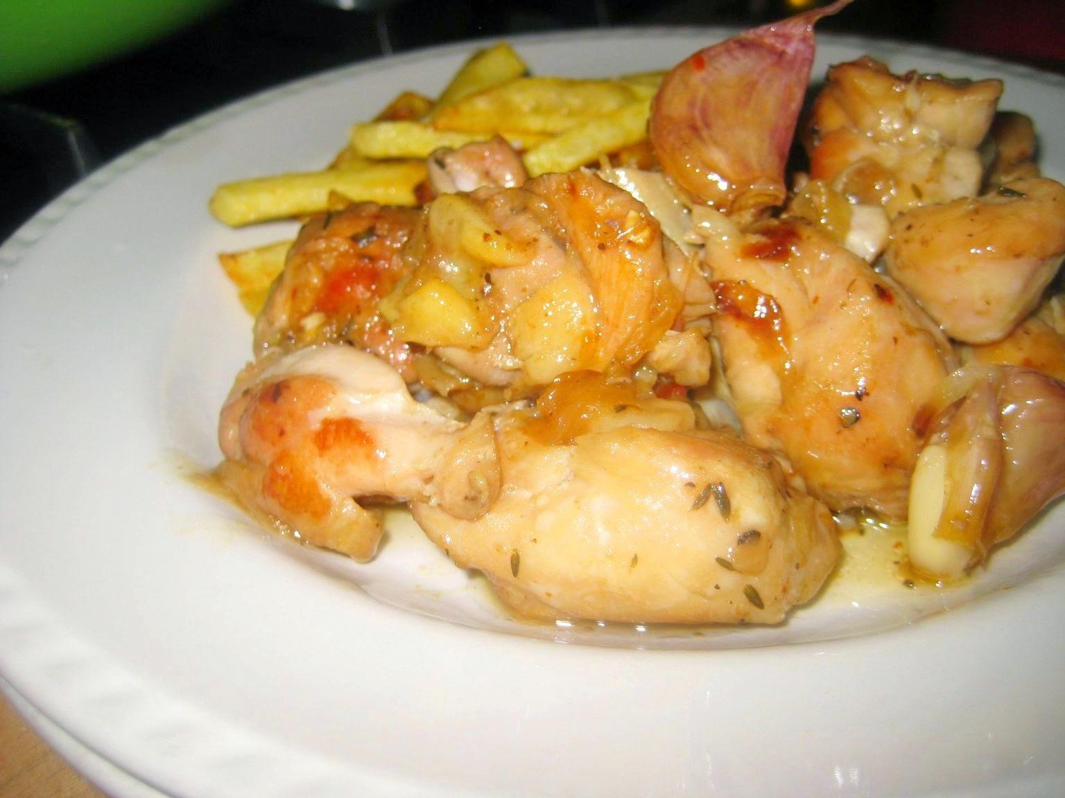 Las recetas de mama rosa pollo en salsa de cebolla y ajos - Como se hace pollo en salsa ...