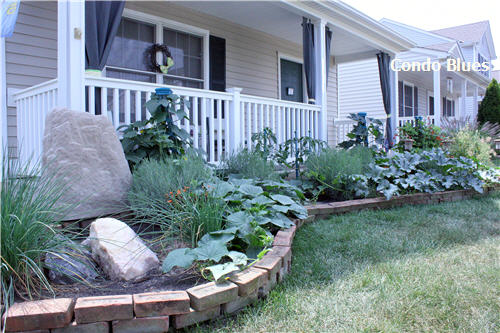 Condo Blues Recycled Front Porch And Garden Renovation
