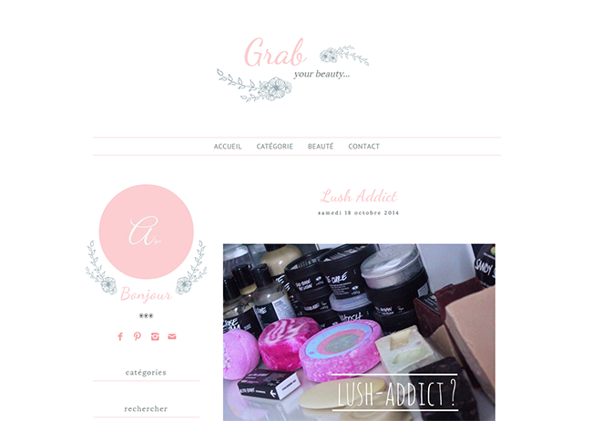 Design de blog, Grab your beauty