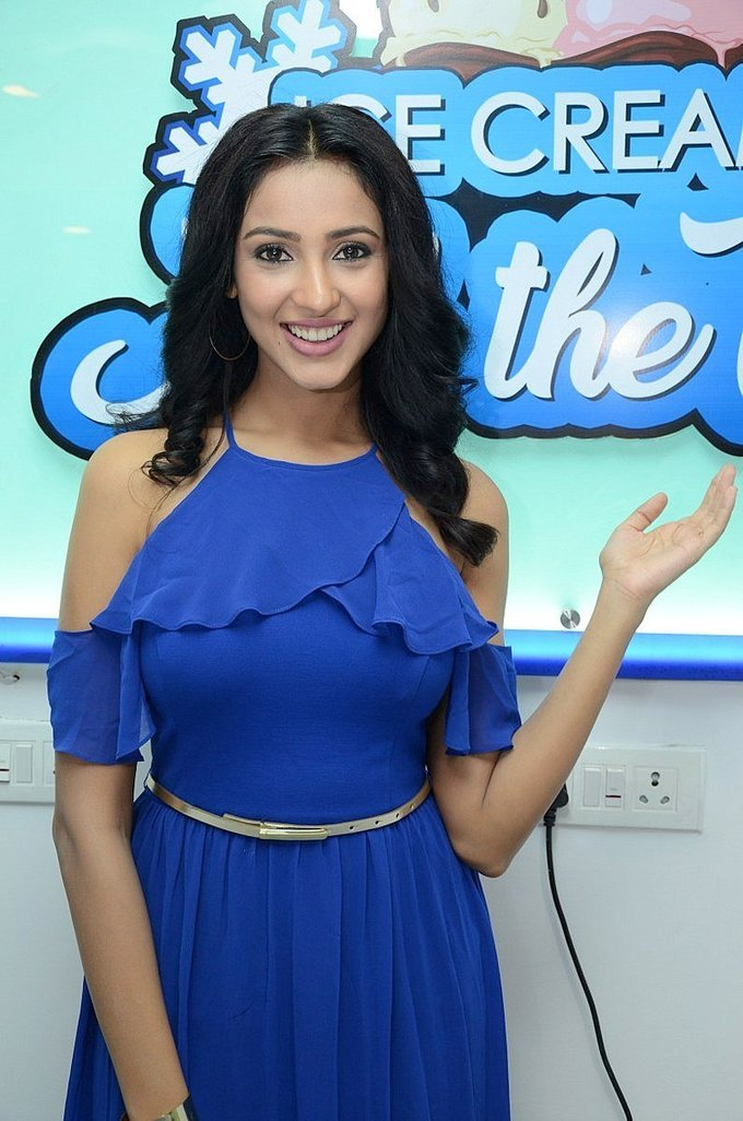 Beautiful Telugu Girl Priya Shri Long Hair Stills In Blue Dress