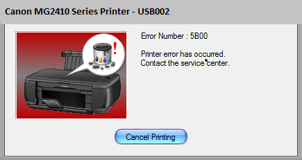 Canon MG2410 Error 5B00 [Solved] | Canon Printer Ink Absorber