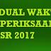 Jadual Waktu Peperiksaan UPSR 2017 Darjah Enam