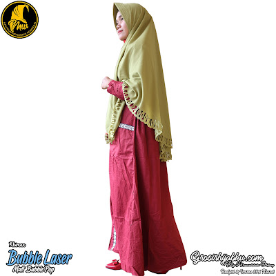 Khimar Bubble Pop Model Pinguin Variasi Cutting Bawah