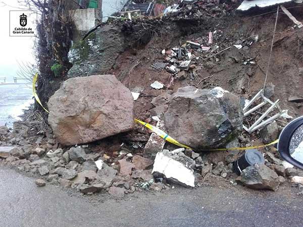 Desprendimientos rocas, Aríñez, San Mateo