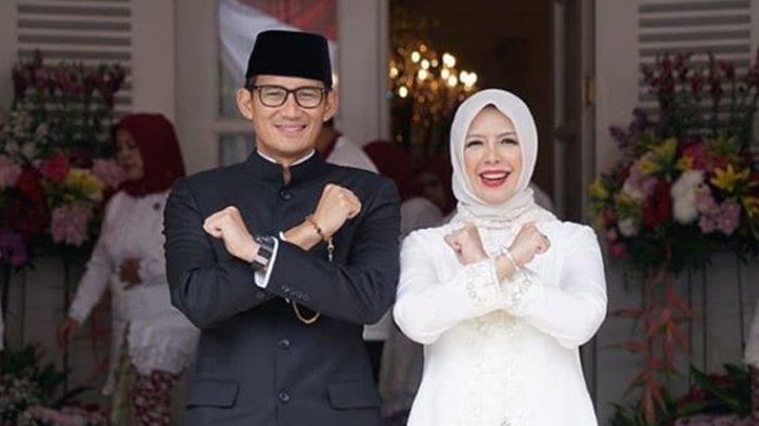 Sandiaga Uno bersama Isteri, Nur Asia