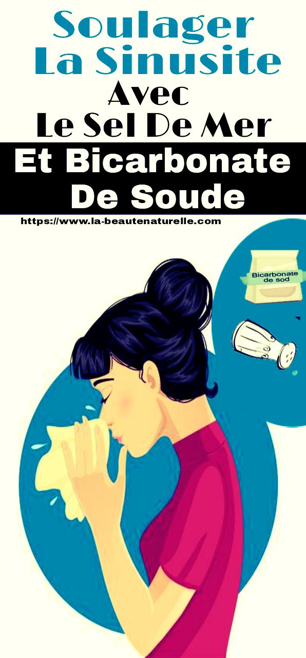 Soulager la sinusite avec le sel de mer et bicarbonate de soude