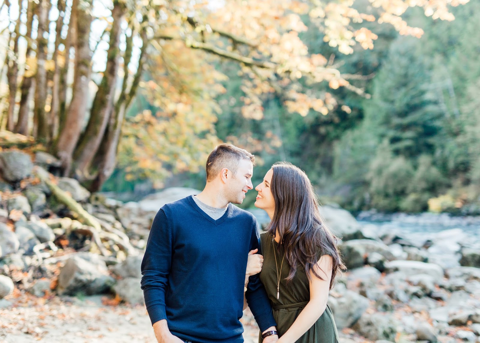 Snoqualmie Falls Autumn Engagement Session by Something Minted Photography