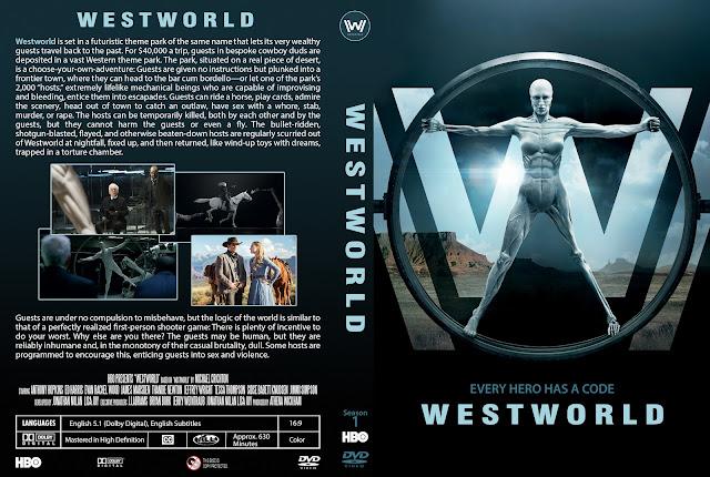 Capa DVD Westworld Primeira Temporada