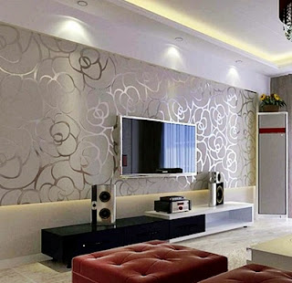 Desain Contoh Gambar Wallpaper Dinding Rumah Minimalis untuk Ruang Keluarga