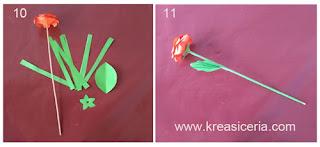 Tutorial dan cara membuat bunga mawar dari kertas origami part 2