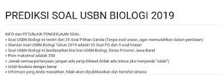 prediksi soal USBN Biologi SMA Tahun 2019