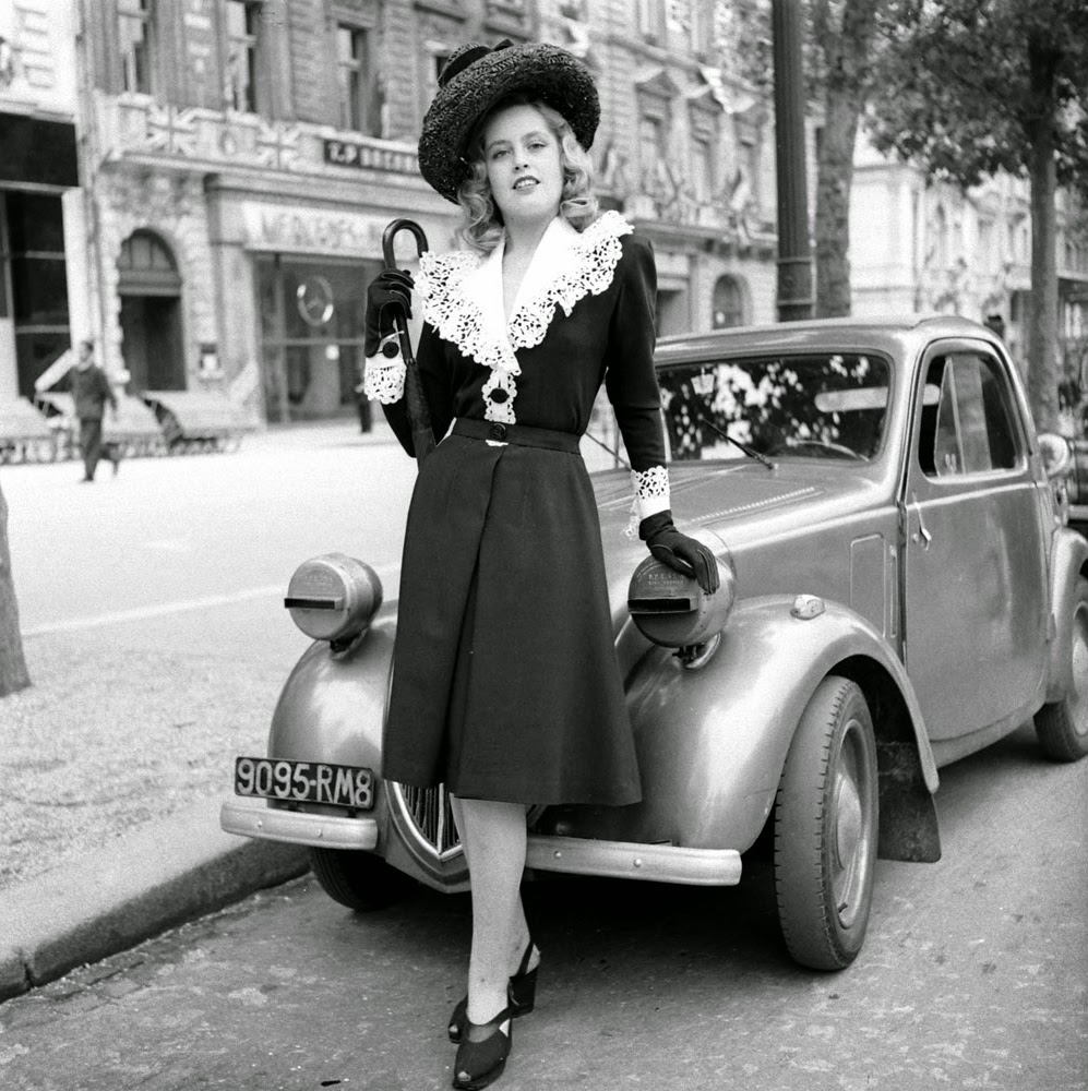 Beautiful women 39 s fashion in post liberation paris 1944 for French shows