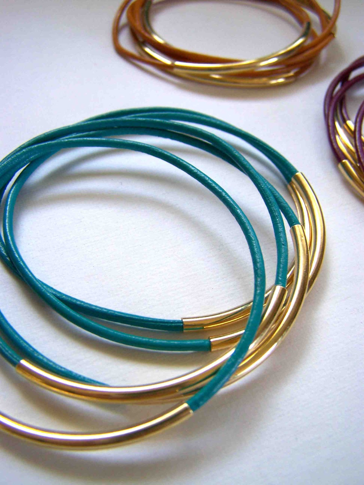 Brand-new Made by Me. Shared with you.: Leather Cord Bangles and Leather  KI17