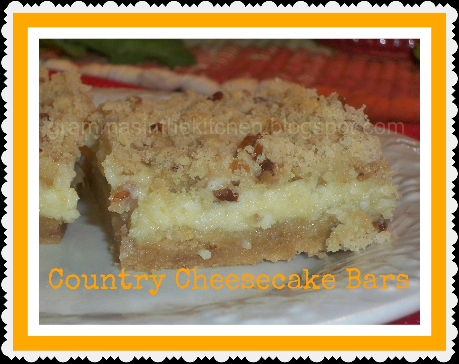 Grammas In The Kitchen Country Cheesecake Bars GarfieldRecipes With Cattitude Review And