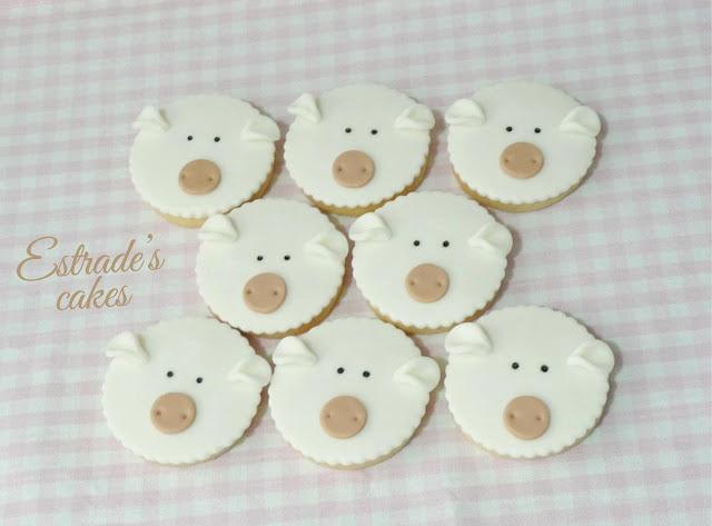 galletas de oveja con fondant 1