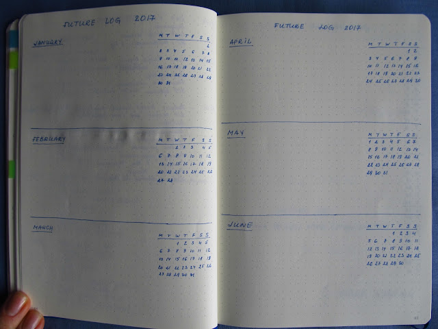 Future Log in Bullet Journal