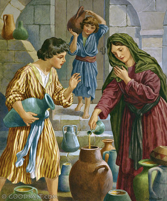 God's servant, Elisha, told the woman to borrow all the empty jars from her neighbours that she could possibly get, close her doors, and begin pouring the oil from her jar into the borrowed jars.