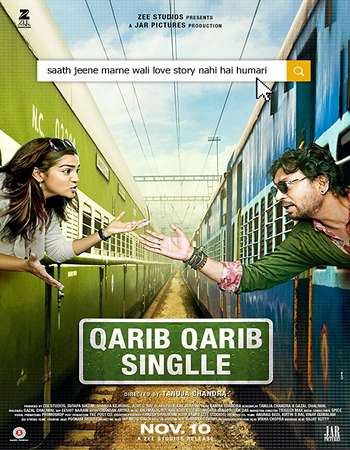 Poster of Movie Qarib Qarib Singlle 2017 Hindi 550MB DTHRip 720p HEVC