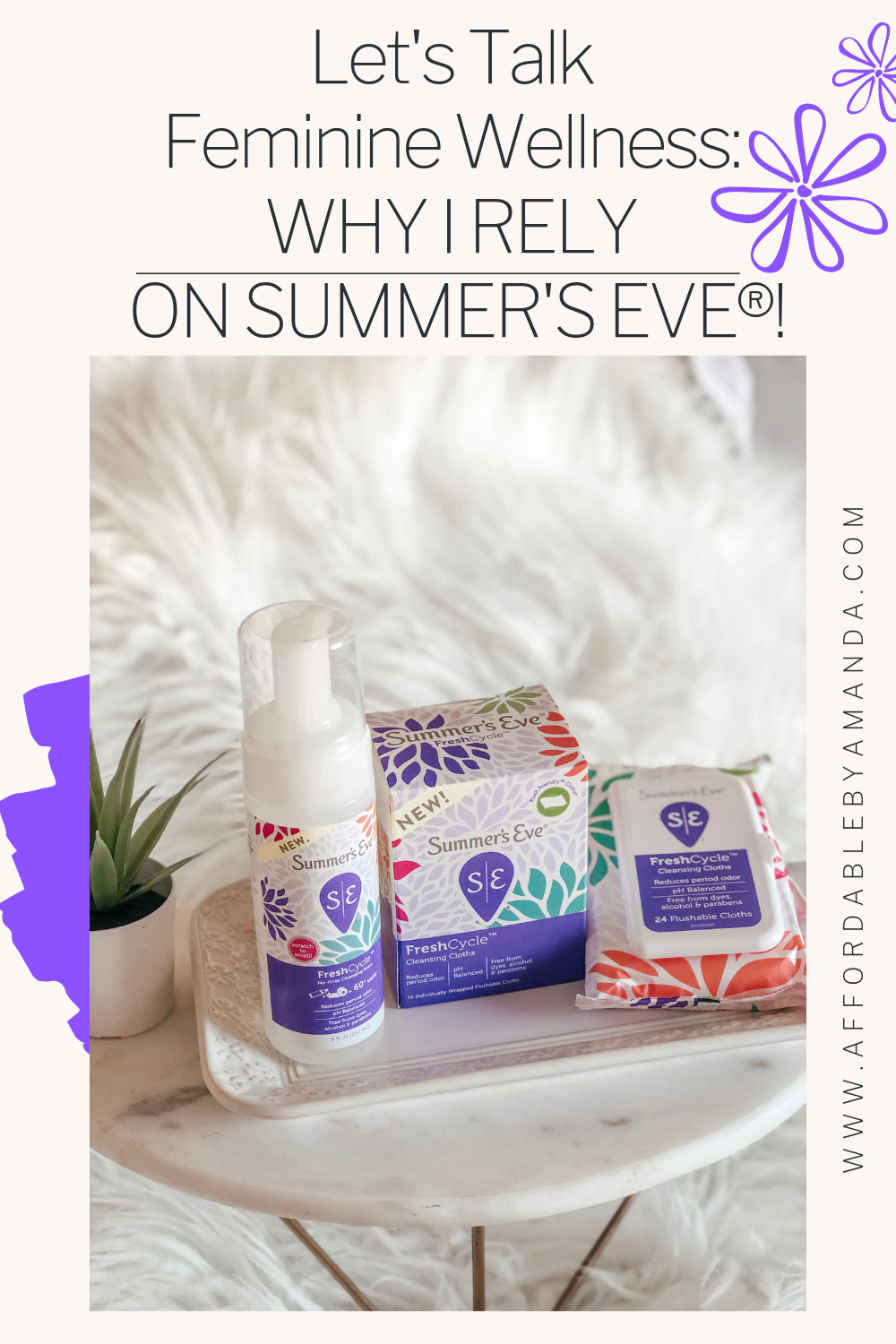 let's talk feminine wellness with summers eve