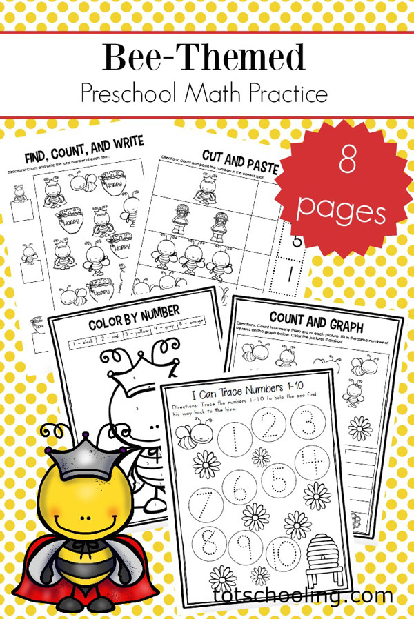 Bee Math for Tots and Preschoolers | Totschooling - Toddler ...