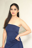 Radhika Mehrotra in sleevless Strap less Blue Gown At Prema Entha Madhuram Priyuraalu Antha Katinam Movie Interview ~  Exclusive 051.JPG