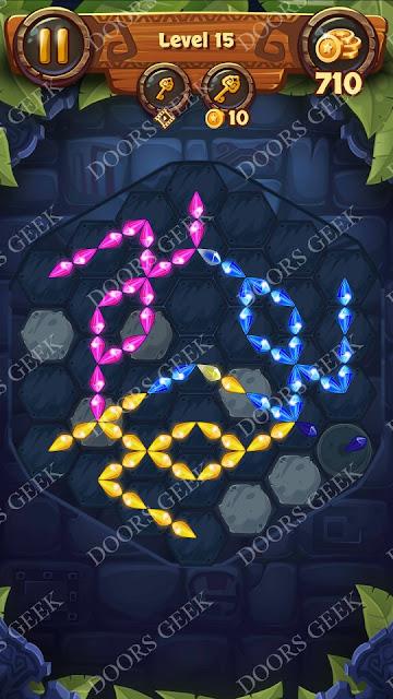Gems & Magic [Aquamarine] Level 15 Solution, Walkthrough, Cheats