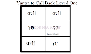 Indian Occult Voodoo Love Spell Yantra to Call Back Loved One