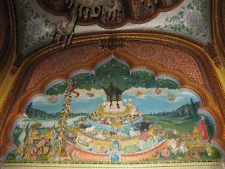 Samavasharan painting at Mahavira Swami temple, Kolkata