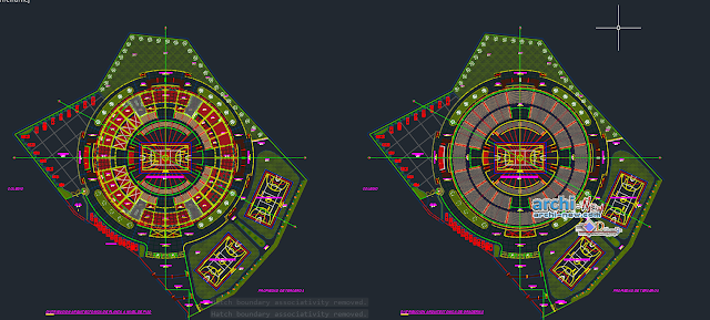 Draft coliseum closed in AutoCAD