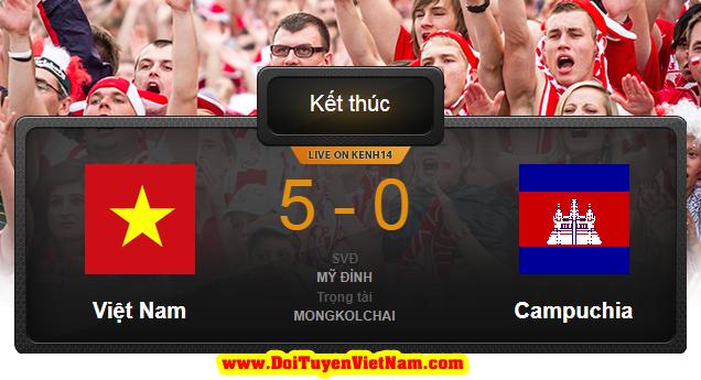 """Công Phượng ghi bàn, Việt Nam trút """"mưa bàn thắng"""" vào lưới Campuchia"""