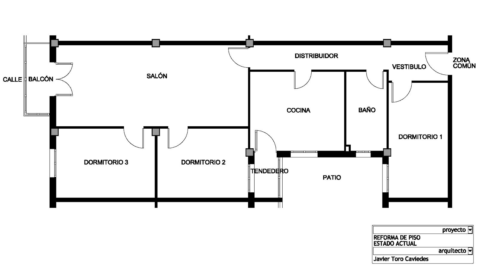 proyecto de reforma de piso estado original