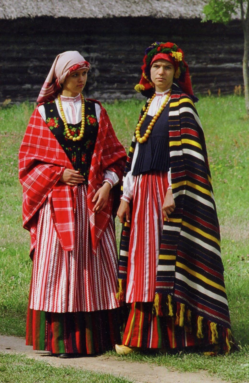 Folkcostume Amp Embroidery Costume Of Samogitia Žemaitija