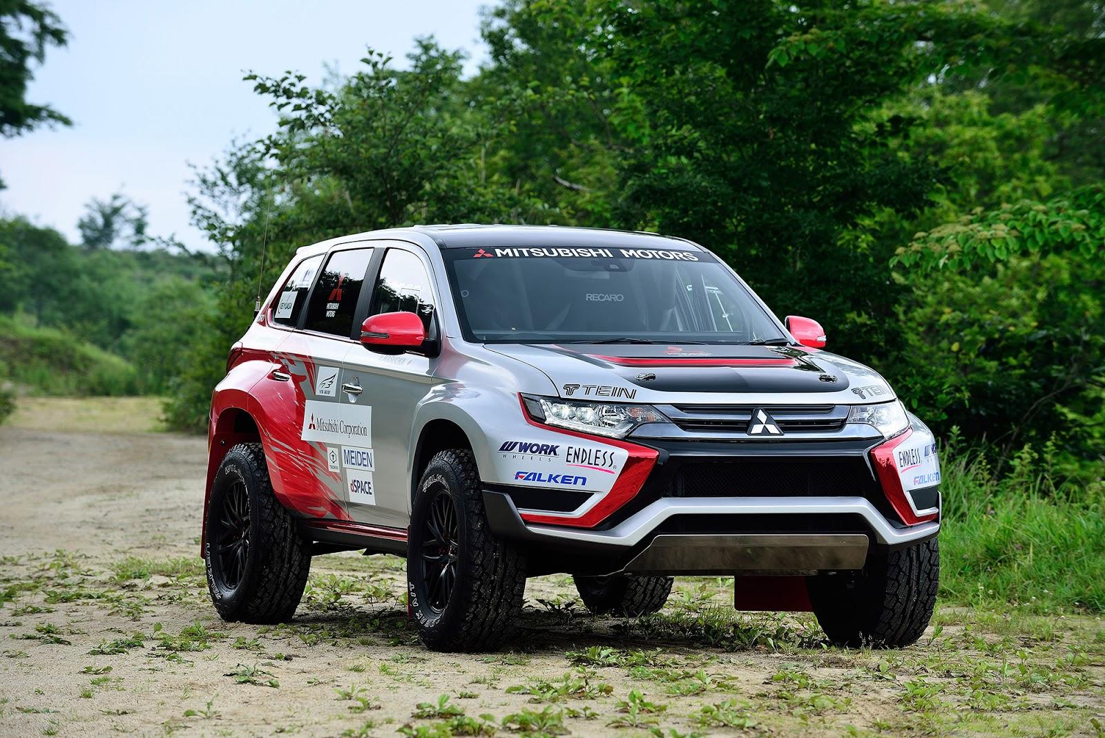 005 Η Mitsubishi συμμετέχει σε χωμάτινο αγώνα 500Km με το plug-in υβριδικό Outlander PHEV