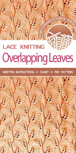 Gorgeous lacy leaves knit stitch pattern #knittingstitches #knitlace