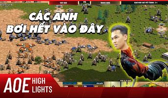 AoE Highlight | Chim Sẻ một mình thủ turn ốp chết người của 4 đại cao thủ Trung Hoa