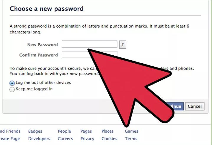 How to remember password in facebook