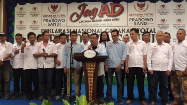 Gerakan Total Dukung Prabowo Sandi Mulai Menggeliat di Jawa Tengah